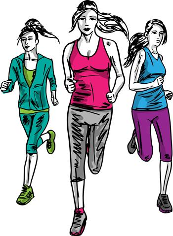 sketch-of-women-marathon-runners-vector-illustration