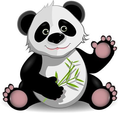 ภาพการ์ตูนหมีแพนด้า